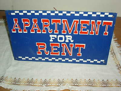Vintage 60's Red White & Blue Apartment For Rent Sign