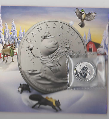 2014 Royal Canadian Mint 20 For 20 SNOWMAN  99.99% Silver $20 Coin Canada