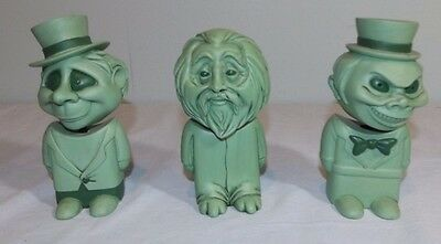 Lot 3 VTG 1971 Disney Haunted Mansion Ghosts Glow in the Dark Bobble Heads RARE