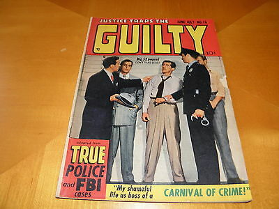 Justice Traps The Guilty #16 June 1950 No Kirby ? Nice art  Photo Cover VG