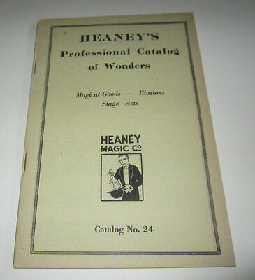 Old 1920's HEANEY'S MAGIC CATALOG - Magical Goods Illusions - Stage Acts No. 24