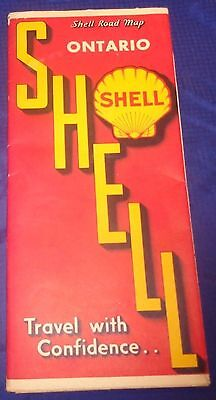 BS605 Shell Oil Co Ontario Road Map Pre 1956