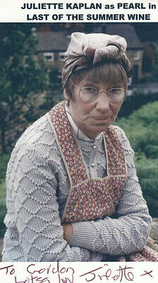 Juliette Kaplan Last Of The Summer Wine Hand Signed Autograph Picture