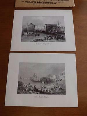 Toronto 100 Years Ago Reproduced Engravings W.h. Bartlett Salada Tea Advertising