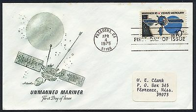 UNITED STATES OF AMERICA 1975 FIRST DAY COVER USA FDC #a468 PASADENA CANCEL!
