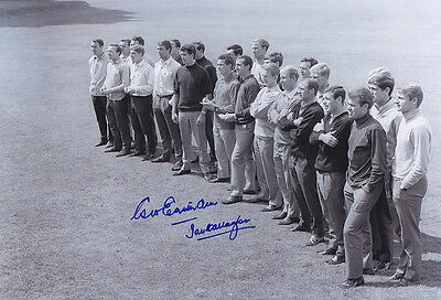 • HAND SIGNED 12x8 PHOTO ENGLAND 1966 EASTHAM & CALLAGHAN