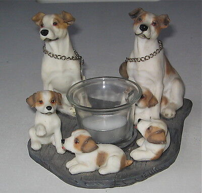Jack Russell Terrier Candle Circle