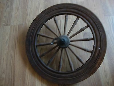 Salvaged Antique Wood Spinning Wheel Parts