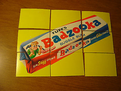1974 Topps Wacky Packages Series 10 Complete Puzzle BADZOOKA ALL WITH  Pupsi