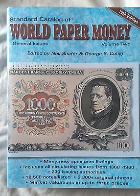 Standard Catalog of World Paper Money  Volume 2 10th Edition - issues to 1960