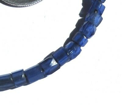25 Rare Hand Faceted Small Old Cobalt Russian Blue Antique Beads African Trade