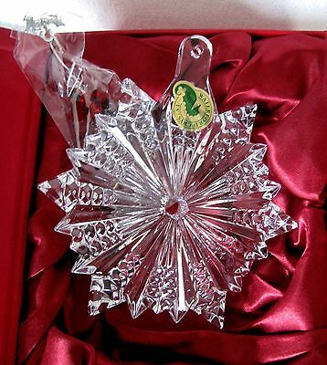 Waterford 2012 Retired Annual Snow Crystal Ornament~Made In Slovenia~Nib
