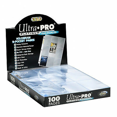 Ultra Pro Platinum Series Hologram 9-Pocket Pages 100Ct Box New #81320