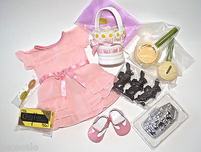 American Girl Candy Making Kit Chocolate Bunny Cooking Accessories Pink Dress