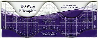 Handi Quilter Wave Ruler F 4 inch for Mid-Arm & Longarm Quilting Machine