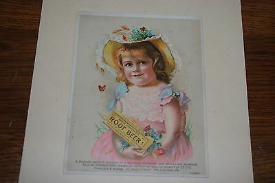 Nice Vintage Hires New Improved Root Beer Victorian Trade Advertising Card
