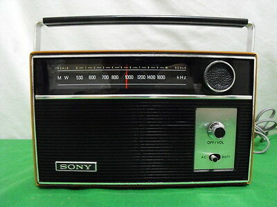 Sony 6R-26 Am Transistor Radio Ac Dc Vintage 1968 Made In Japan