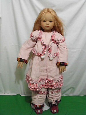 """Annette Himstedt """"bette"""" Doll 2003 Limited Edition 277 34"""" Tall W Coa Pls Read"""