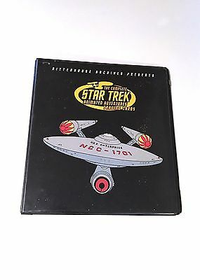 Star Trek Complete Animated Adventure Trading Cards Binder Only Rittenhouse 2003
