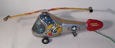 Hiller Hornet Helicopter Tin Battery Operated Toy Alps Japan