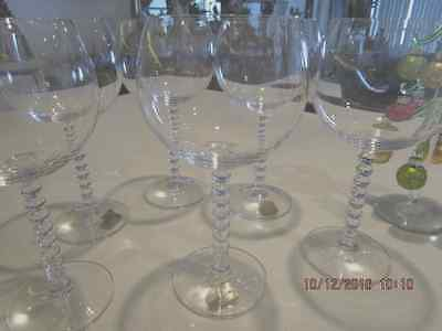 EXQUISITE MIKASA Crystal Red Wine Glasses Set of Six 19 cm Tall 80's VINTAGE