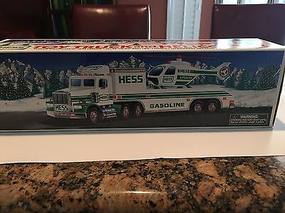 Hess Toy Truck and Helicopter 1995 New in Box