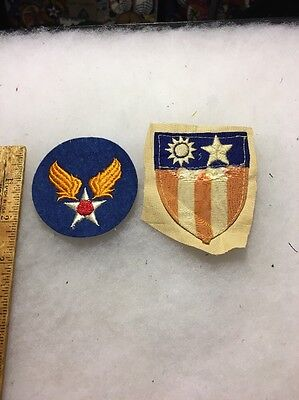 WW2 Theater Made CBI Patch And Felt Army Air Corp Patch Lot Of 2