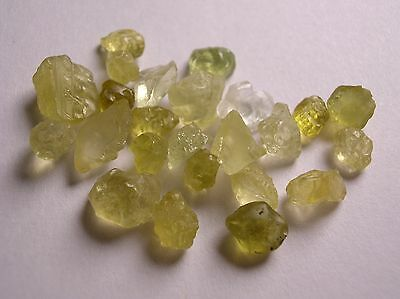Diopside, Rare Yellow To Clear Colored Crystals, Kenya