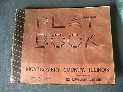 Vintage MONTGOMERY COUNTY ILLINOIS PLAT BOOK from 1949