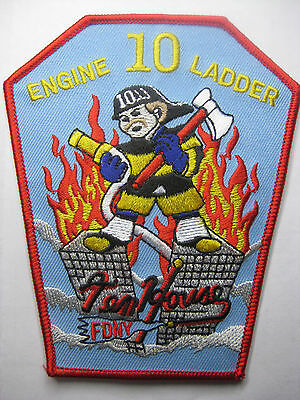 U.s. Fire Brigade Fire Patch Patch Fdny Engine Ladder 10 Carnival Fasching New