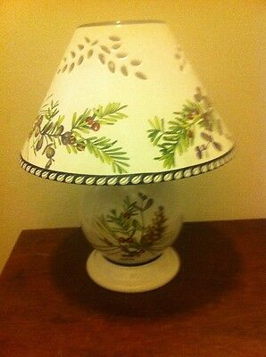 Lenox Etchings Fine China Tea Light or Votive Candle Romantic Cabin Lamp