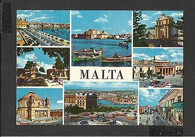 Colour Postcard General Views  Malta posted 1973