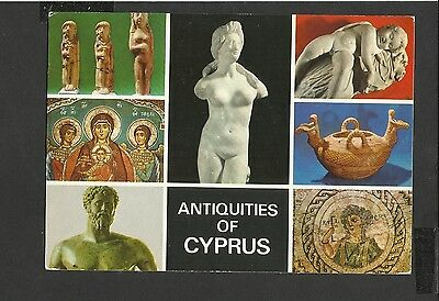 John Hinde Multiview Colour Postcard Antiquities of Cyprus Unposted