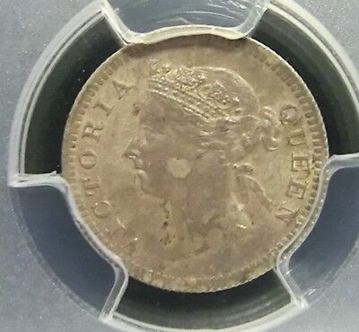 Hong Kong 1901 Victoria PCGS MS63 Secure Silver BU 5 Cents Scarce