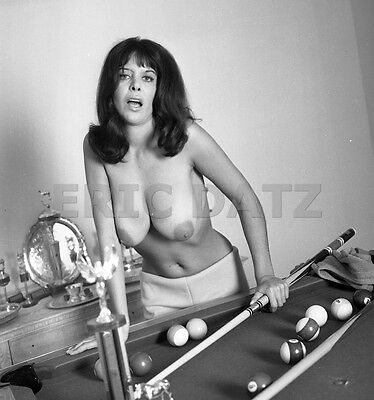 Ron Vogel Negative, busty nude pin-up girl Annette Antres at pool table, t972383