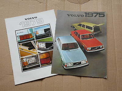 Two Volvo full model range original colour sales brochures from the 1970's