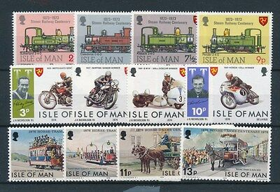 [87610] Isle of Man Transportation good lot Very Fine MNH stamps