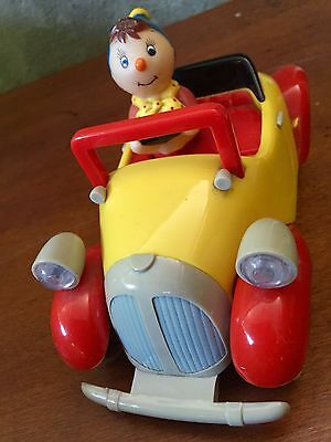 Vintage Noddy In His Red And Yellow Car Retro