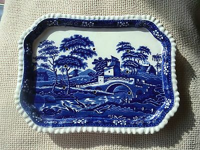 Copeland Spode's TOWER BLUE England ,STRAINER/ PLATTER 28 x 21. Oval Backstamp.