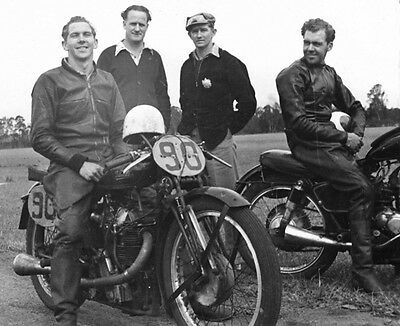 Velocette KTT Practice session Brown 1953 motorcycle photo photograph