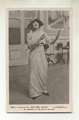 Edwardian  Theatre .actress.miss Emmy Wehlen  Pub Rotary 6915 T   Used 1913