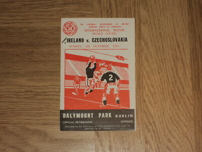 Republic of Ireland v Czechoslovakia Football Programme 8.10.61