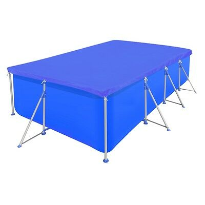 #sNew Swimming Pool Cover Protection PE Rectangular Easy Set 90 g/sqm 394x207 cm