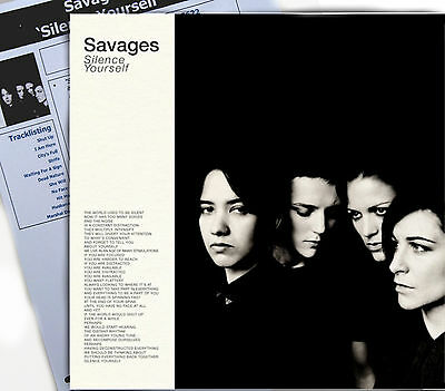 SAVAGES LP Silence Yourself + DOWNLOAD Debut album 2013 Vinyl NEW + Promo Info