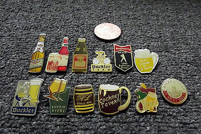 Job Lot 12 X Mixed Beer/alcohol/whiskey/drink/pub Related Pin Badges