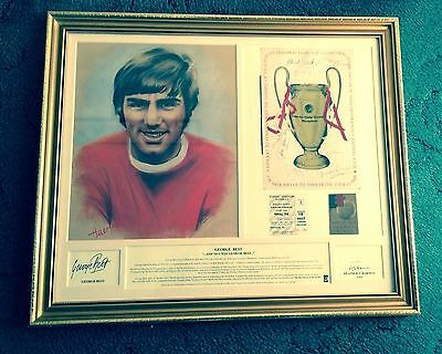 George Best Limited Edition Framed and Personally Signed Print