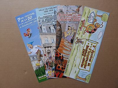 4 Marque-Pages - Festival BD Bourgoin-Jallieu TBE