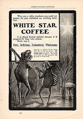 8 White Star Coffee Frog Ads-1900 & 1901