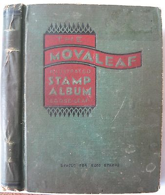 Old Movaleaf stamp album with approx 2000 stamps