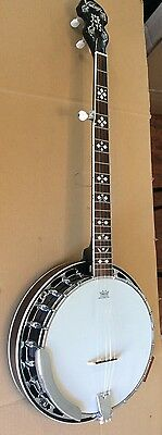 Vintage  Electric Acoustic 5 String Banjo   With Case